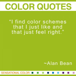 Quotes About Color By Alan Bean
