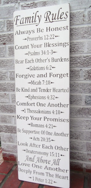 ... be honest, count your blessings, forgive and forget...