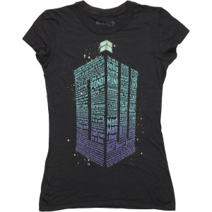 Doctor Who TARDIS Shaped Quotes Baby Tee