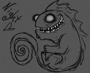 Good Night Creepy Rococho creepy chameleon