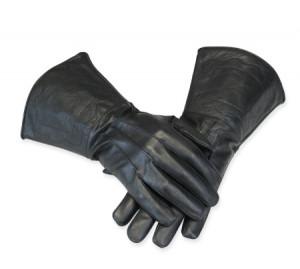 Leather Gauntlet Gauntlets - black leather