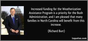 Increased funding for the Weatherization Assistance Program is a ...
