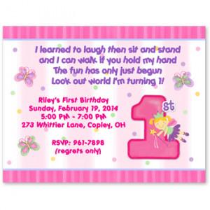 Fun at One Birthday Party Invitation, Girl First Birthday Invitation