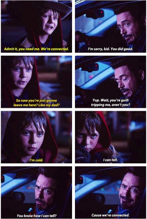Iron Man 3 : Quotes - Harley Keener and Tony Stark FINALLY! Evidence ...