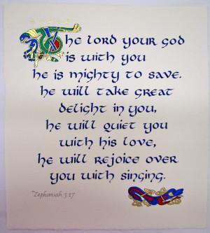 Baby Dedication – Zephaniah 3:17