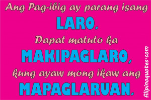 Funny Quotes Tagalog Love