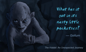 Smeagol Quotes Gollum quote from the hobbit.