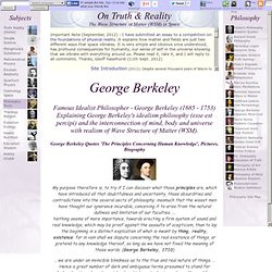 Philosopher - George Berkeley (1685 - 1753) Explaining George Berkeley ...