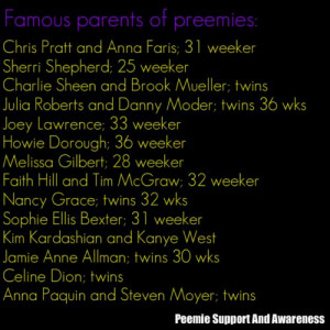 Famous parents of preemies