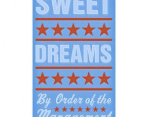 Kid Art for Boys Room- Sweet Dreams Print Blue 6