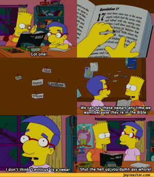 comics,funny comics & strips, cartoons,anime,Simpsons,swear,bart,bible ...