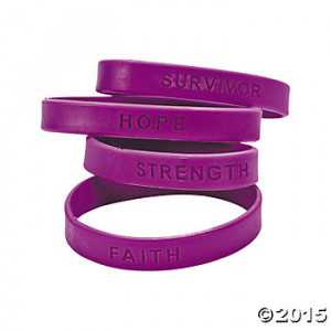 Awareness Sayings Bracelets - Purple