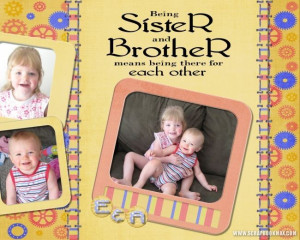 Being Sister and Brother