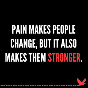 Wallpaper on Pain and Strength: Pain Makes people Stronger