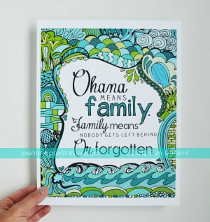 Hawaii Sayings http://www.etsy.com/listing/100478469/ohana-family-teal ...