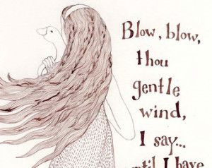 ... ink drawing by Yardia - fairy tale, Brothers Grimm, quotation, hair