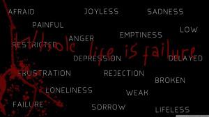 Deep depression depressed failure sad