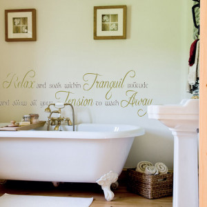 Allow Your Tension To Wash Away Wall Decal