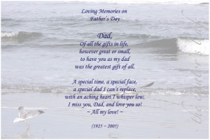 Missing my dad today. Gone almost seven years.