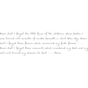 Holocoast Survivor Quote: Elie