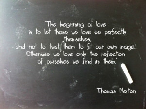 love with an open heart.