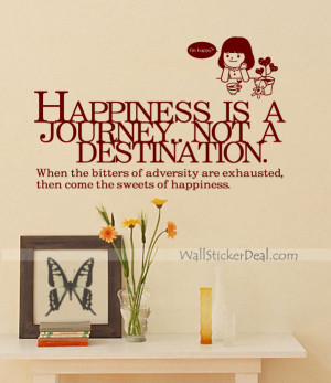 Home Decorating Happiness Is A Journey Quotes Wall Sticker