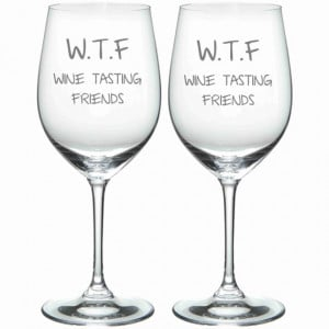 Wine Tasting Friends Funny Glass Set of 2 Choose from stemless glasses ...
