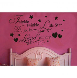 Twinkle Twinkle Litter Star decor creative quote wall decal ZooYoo8064 ...