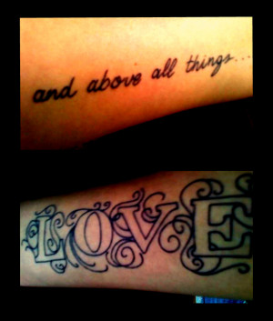 Moulin Rouge Tattoo Text Love Quote picture