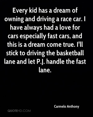 Every kid has a dream of owning and driving a race car. I have always ...