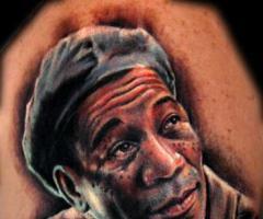 morgan freeman the shawshank redemption tattoo morgan freeman the ...