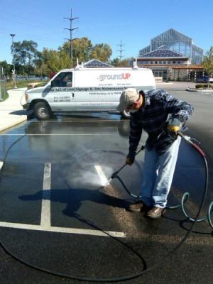 Pressure Washing Parking Lots