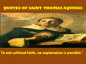QUOTES OF SAINT THOMAS OF AQUINAS - 07-09-2012
