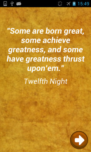 Shakespeare Quotes Quiz - screenshot