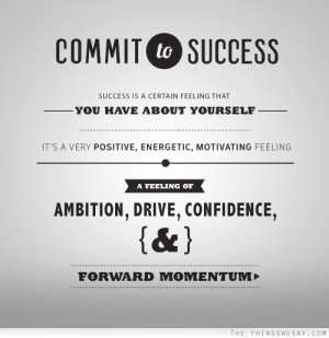 ... feeling a feeling of ambition drive confidence and forward momentum