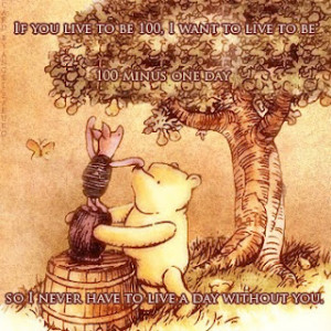 This quote displays the emotion which draws us to Winnie the Pooh.