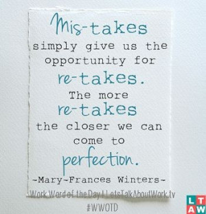 Quote of the day work, deep, wise, sayings, mistakes