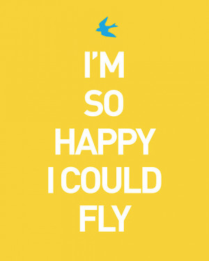 SO HAPPY I COULD FLY by TheLoveShop