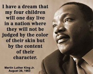 Martin Luther King Jr. is one of the most words throughout your speech ...