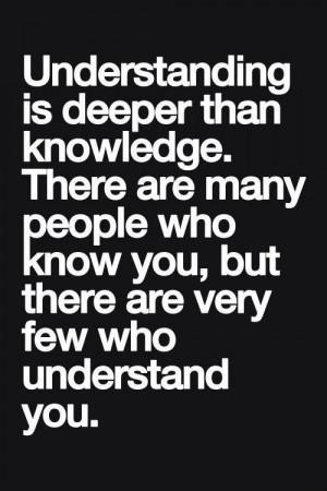 Understanding vs knowledge