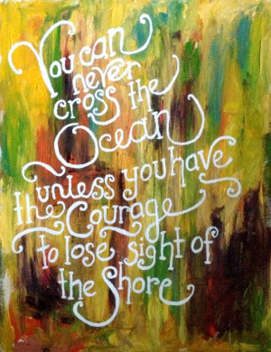 Inspirational Quote on Abstract Oil Painting by BrittanyLeighArt, $35 ...