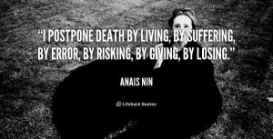 Postpone Death Living