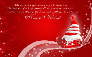 Wish you all a Merry Christmas and a Very Happy and Prosperous New yea ...