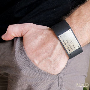 Dad Bracelet. Leather Cuff Men's Bracelet. Quote by NadinGlassico, $60 ...