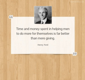 Time And Money Spent In Helping Men