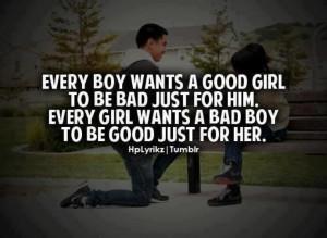 Bad boys & Good girls