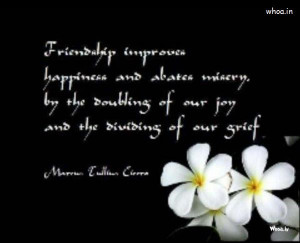 Happy Friendship Day Quote Dark Wallpaper With White Flowers HD ...