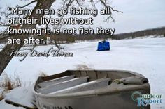 Funny Ice Fishing Quotes Henry david thoreau quote