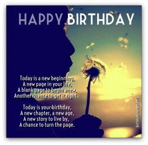 See more inspirational birthday poems below...