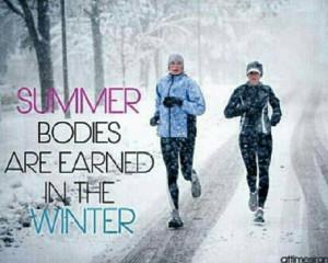 Winter training = summer bodies